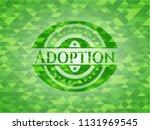 adoption green mosaic emblem | Shutterstock .eps vector #1131969545