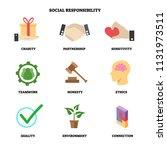 vector illustration with social ...   Shutterstock .eps vector #1131973511