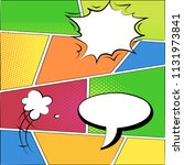 comics style colourful boxes... | Shutterstock .eps vector #1131973841