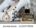 pakistani and indian jewelry... | Shutterstock . vector #1131973904