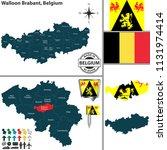 vector map of walloon brabant...   Shutterstock .eps vector #1131974414
