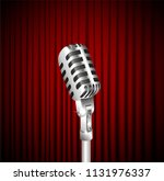 stage curtains with shining... | Shutterstock .eps vector #1131976337