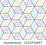 colorful seamless rhombus... | Shutterstock . vector #1131976697