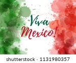 viva mexico background with... | Shutterstock .eps vector #1131980357