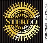 stereo shiny emblem | Shutterstock .eps vector #1131980711