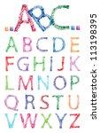 sketch alphabet   Shutterstock .eps vector #113198395