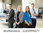 business team car seller on the ... | Shutterstock . vector #1131994277