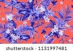 seamless floral pattern with... | Shutterstock . vector #1131997481