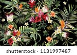 seamless floral pattern with... | Shutterstock . vector #1131997487
