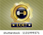 gold shiny emblem with... | Shutterstock .eps vector #1131999371