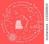 scientific  education elements. ... | Shutterstock .eps vector #1132000814