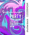 party poster for night club.... | Shutterstock .eps vector #1132004264