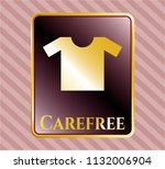gold badge or emblem with... | Shutterstock .eps vector #1132006904