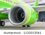 engine of passenger airplane... | Shutterstock . vector #1132013561