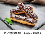 traditional french dessert.... | Shutterstock . vector #1132015061