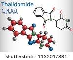 thalidomide molecule. is used... | Shutterstock .eps vector #1132017881