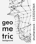geometrical background. vector... | Shutterstock .eps vector #1132024364