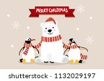 merry christmas greeting card... | Shutterstock .eps vector #1132029197