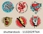 vintage tattoo vector graphics. | Shutterstock .eps vector #1132029764