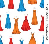 pattern of the evening dresses | Shutterstock .eps vector #1132031279