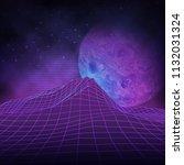 futuristic retro landscape of... | Shutterstock .eps vector #1132031324