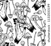vector illustration. mushrooms... | Shutterstock .eps vector #1132033199