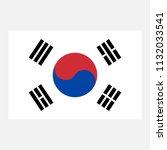 simple vector korean flag for... | Shutterstock .eps vector #1132033541