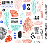 seamless pattern with hand...   Shutterstock .eps vector #1132036304