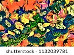 abstract psychedelic background ... | Shutterstock . vector #1132039781
