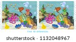 find ten differences. game for... | Shutterstock .eps vector #1132048967