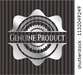 genuine product silver emblem | Shutterstock .eps vector #1132049249