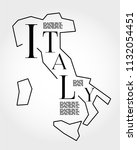 italy  outline typographic map  ... | Shutterstock .eps vector #1132054451