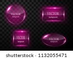 glass vector button plane. easy ... | Shutterstock .eps vector #1132055471