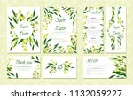 eucalyptus design. wedding... | Shutterstock .eps vector #1132059227