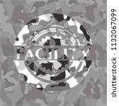 facility grey camouflaged emblem   Shutterstock .eps vector #1132067099