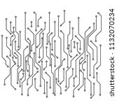 circuit board pattern. abstract ... | Shutterstock .eps vector #1132070234