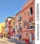 barrio santa cruz  the old... | Shutterstock . vector #1132085954