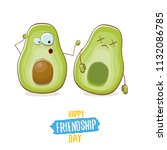 happy friendship day cartoon... | Shutterstock .eps vector #1132086785
