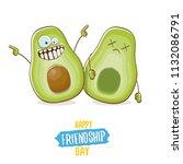 happy friendship day cartoon... | Shutterstock .eps vector #1132086791