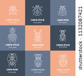 vector logo templates with bugs ... | Shutterstock .eps vector #1132087421