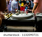 turntable dj setup | Shutterstock . vector #1132090721