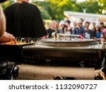 turntable dj setup | Shutterstock . vector #1132090727