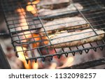 barbecue on naked flame... | Shutterstock . vector #1132098257