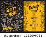 bakery menu for restaurant....   Shutterstock .eps vector #1132099781