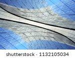 double exposure photo of panel... | Shutterstock . vector #1132105034