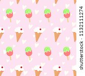 vector seamless pattern with... | Shutterstock .eps vector #1132111274