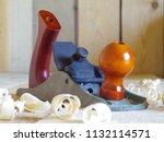 joiner's plane on a wooden... | Shutterstock . vector #1132114571