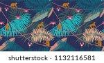 seamless tropical pattern.... | Shutterstock .eps vector #1132116581