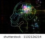 digital mind series. artistic...   Shutterstock . vector #1132126214