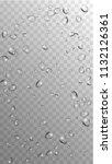 rain drops on transparent... | Shutterstock .eps vector #1132126361